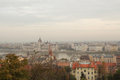 The varhegy in budapest standing at castle hill can see capitol building is s oldest old city it is like a huge museum urban Stock Images