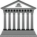 Variante greca dello stampino secondo del tempiale Immagine Stock Libera da Diritti