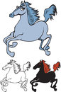 Variants of a galloping horse cartoon images Stock Photography