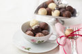 Variation of chocolate truffles Stock Photography
