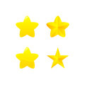 Variations of yellow star award gold Stock Photo