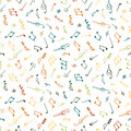 Varicolored seamless music pattern