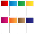 Varicoloured flags on a white background Stock Photography