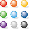Varicoloured glass marbles Royalty Free Stock Images