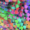 Varicoloured hearts Royalty Free Stock Photo
