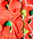 Varicoloured ribbons Stock Images