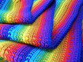 Varicoloured scarf Stock Photo