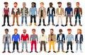 Varied male fashion avatar Royalty Free Stock Photo