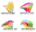 Variedade do arco íris abstrato art logos Fotos de Stock Royalty Free