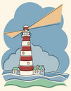 Variegated Lighthouse Royalty Free Stock Image