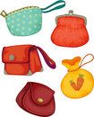 Varieties of ladies Purses Royalty Free Stock Photos