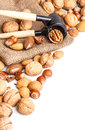 Varieties of nuts Stock Photos