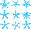 Varieties of Snowflakes Stock Photography
