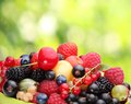 Variety of berries Stock Photos