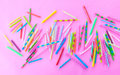 Variety of birthday candles Royalty Free Stock Photo