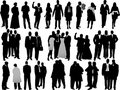 Variety business people silhouettes