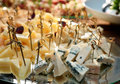 Variety of cheese on banquet table close up Royalty Free Stock Photography