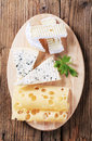 Variety of cheeses Stock Images