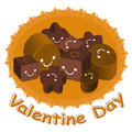 Variety of chocolate collection. Valentine Character Design Seri Stock Image