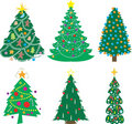 A Variety of Christmas Trees Stock Photos