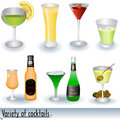 Variety Of Cocktails Stock Images