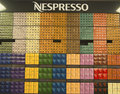 Variety of coffee capsules in nespresso store new york april new york on april is an operating unit the nestle Royalty Free Stock Image