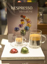 Variety of coffee capsules in nespresso store new york april new york on april is an operating unit the nestle Royalty Free Stock Photo