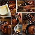 Variety Coffee Shots Stock Images