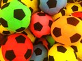 A variety of colored balls, arranged in a variety of balls