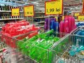 Variety of colorful plastic cups Royalty Free Stock Photo