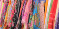 Variety of colourful scarves Royalty Free Stock Photo