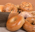 Variety of different types of bagels Royalty Free Stock Images