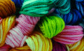 Variety embroidery floss Royalty Free Stock Images