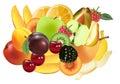Variety of Exotic fruits Royalty Free Stock Photos