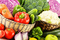 Variety of fresh organic vegetables composition with Royalty Free Stock Images