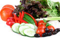 A variety of garden fresh vegetables. Royalty Free Stock Photo