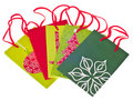Variety of Holiday Gift Bags Royalty Free Stock Photos