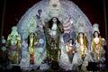 A variety of Idols of Maa Durga at Durga puja Royalty Free Stock Photo