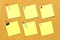 Variety of post it notes Royalty Free Stock Photo