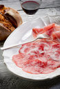 Variety of salami and ham Royalty Free Stock Photo