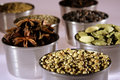 Variety of spices Stock Photos