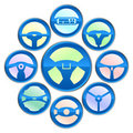 Vector variety of steering wheel icon Royalty Free Stock Photo