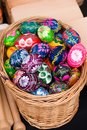 Painted easter eggs for sale Royalty Free Stock Photo
