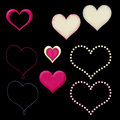Variety of vector hearts Stock Photos