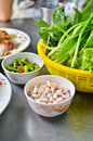 Variety of vegetables for Vietnamese food Royalty Free Stock Images