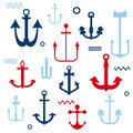 Various anchor collection your logo design scrapbook Stock Photos