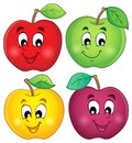 Various apples collection eps vector illustration Stock Images