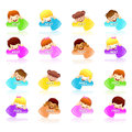 Various arrows and Children Icons. Creative Icon Design Series. Stock Photography