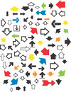 Various arrows vector design clipart created in adobe illustrator in eps format for illustration use in web and print Stock Image