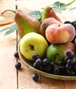 Various autumn fruits Stock Photo